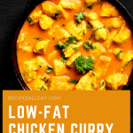Low-fat chicken curry pot