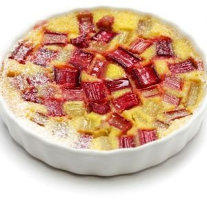 Rhubarb with Custard
